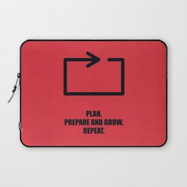 Lab No. 4 -Plan, prepare and grow, repeat corporate start-up quotes Poster Laptop Sleeve