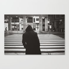 black hood Canvas Print