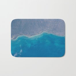 Pacific Ocean, California, Nature, Malibu, Los Angeles, Costline, Satellite, Landscape Bath Mat