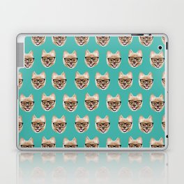Pomeranian dog breed hipster glasses intellectual dog lover with personality Laptop & iPad Skin