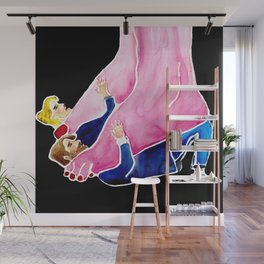 Giantess Feet & Cute Man Shoes Wall Mural