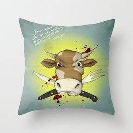 Dear Human Race... Throw Pillow