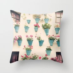 Flowerpots Throw Pillow