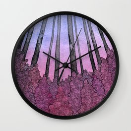 Fireweeds Wall Clock