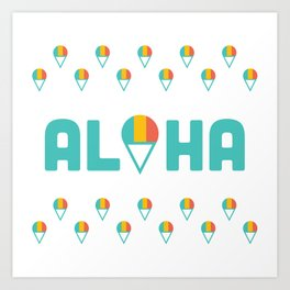 Aloha Shave Ice Art Print