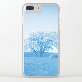 the lonely tree wb Clear iPhone Case