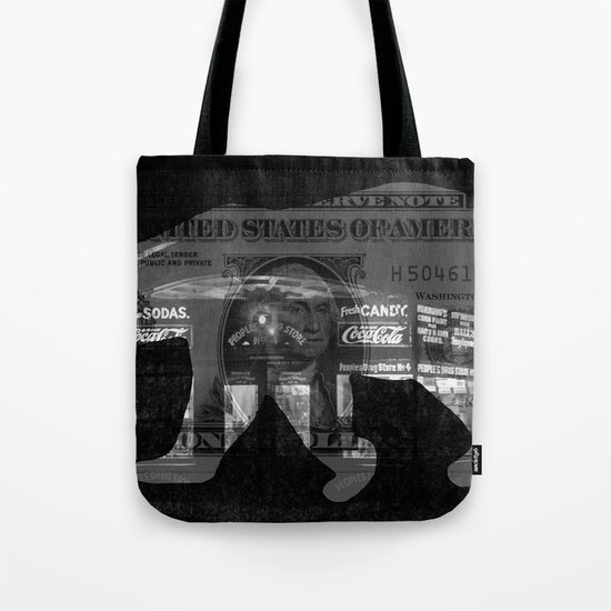 Ice Bear City Collage Tote Bag