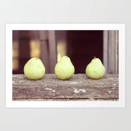 3 Pears Art Print