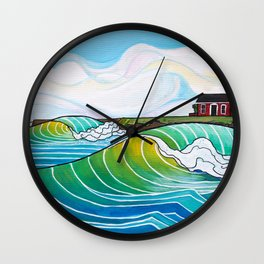 Steamer Lane Wall Clock