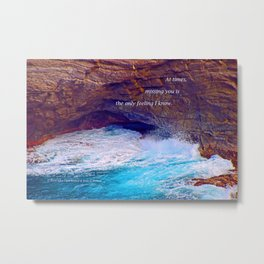 """Kauai's Land's End #9"" with poem: At Times Metal Print"