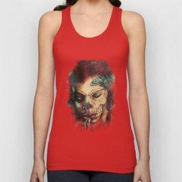 Skull Girl Unisex Tank Top