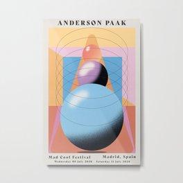 Anderson Paak gig poster Metal Print