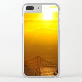 Astoria Oregon Sunset Clear iPhone Case