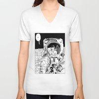 apollonia V-neck T-shirts featuring asc 333 - La rencontre rapprochée ( The close encounter) by From Apollonia with Love