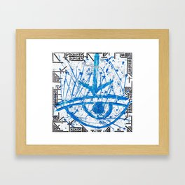 All seeing Eye Framed Art Print