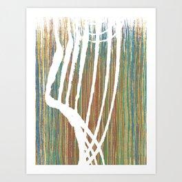 vertical rainbow rake Art Print