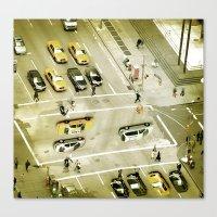 escher Canvas Prints featuring Escher Intersection by Vin Zzep