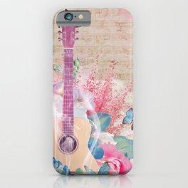 Floral Guitar iPhone Case