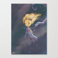 the little prince Canvas Prints featuring Little Prince by QatatoPRINTS