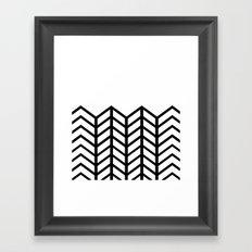 BLACK & WHITE LACE CHEVRON Framed Art Print
