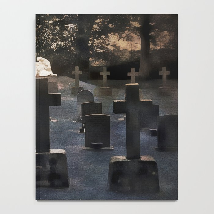 Gravestones and statue Notebook
