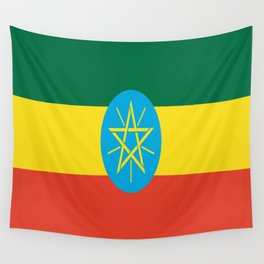flag of Ethiopia-ኢትዮጵያ, የኢትዮጵያ ,Amharic,  Ethiopian, Addis Ababa. Wall Tapestry
