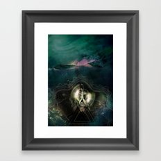 Encircles the world Framed Art Print