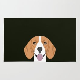 Darby - Beagle gifts for pet owners and dog person with a beagle Rug