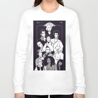 ahs Long Sleeve T-shirts featuring AHS Hotel by Jaimie Hutton