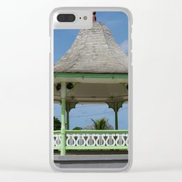 A bandstand in Barbados Clear iPhone Case