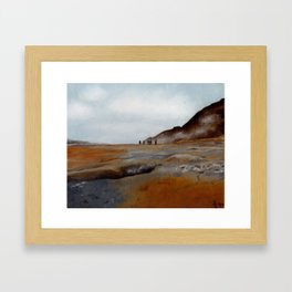 Sulfur Pits of Iceland Framed Art Print
