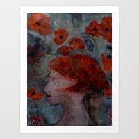 imagerybydianna Art Prints featuring somnia by Imagery by dianna