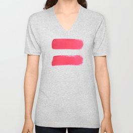 One human kind - Pink Equality Unisex V-Neck