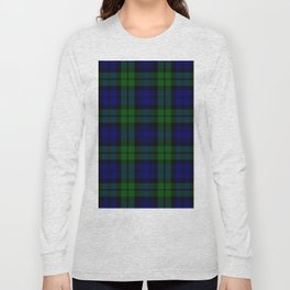 Scottish Campbell Tartan Pattern-Black Watch #1 Long Sleeve T-shirt