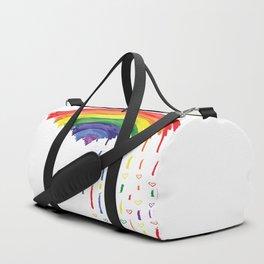 Love Rainbow Rain Duffle Bag