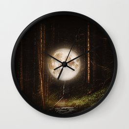 Visiting The Forest Wall Clock