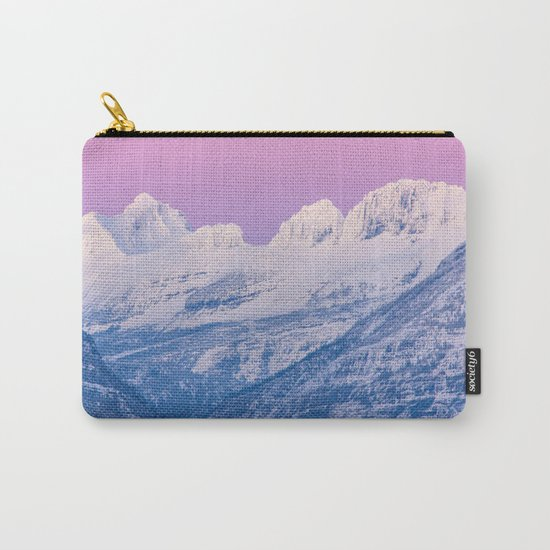 Pink Sunset Mountains Carry-All Pouch