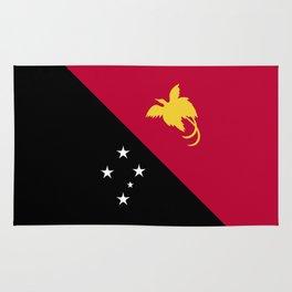 Papua New Guinea flag emblem Rug