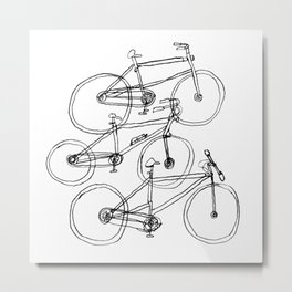 Three Bicycles  Metal Print