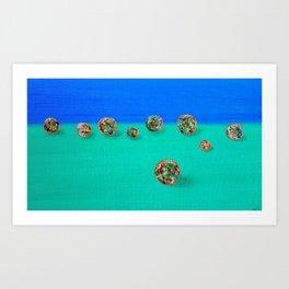 Lost Marbles Art Print