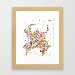 """Sumo Cluster (""""Negative"""") Framed Art Print"""