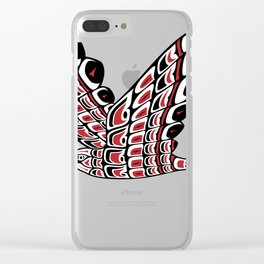 Red Tail Hawk Pacific Northwest Native American Style Art Clear iPhone Case