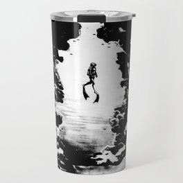 Scuba Diver Fine Art Print Travel Mug