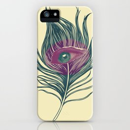 Feather in my eye iPhone Case