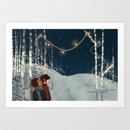 Elf Lights Art Print