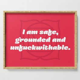 Unfuckwithable (Root Chakra Affirmation) Serving Tray