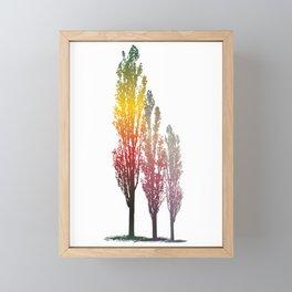 Magic poplar trees Framed Mini Art Print