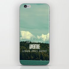 She Looks for Adventure  iPhone & iPod Skin