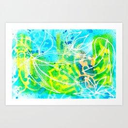 Green Aqua Art Print