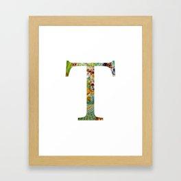 """Initial letter """"T"""" Framed Art Print"""
